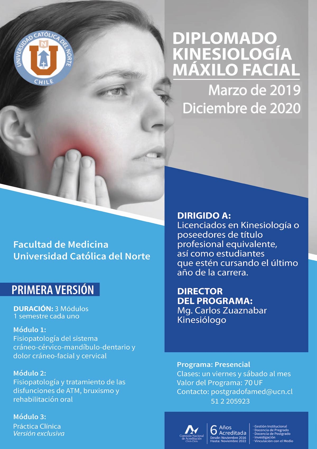 Diplomado en Kinesiologia Maxilo Facial – Facultad de Medicina – UCN